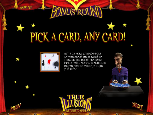 true illusions bonus round