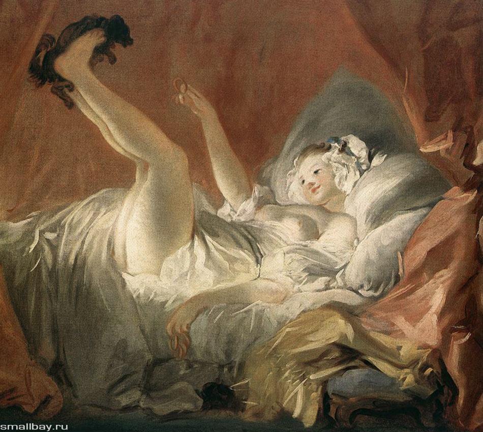 Много лет назад Фрагонар уже писал галантную сценку под названием «Качели». В то время он был ученик