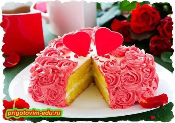 Бисквитный Торт «Цветущие розы».jpg