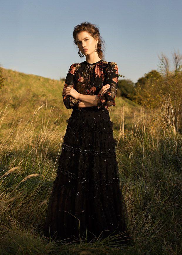Dress: Needle & Thread Top: Zara Earrings: Bershka