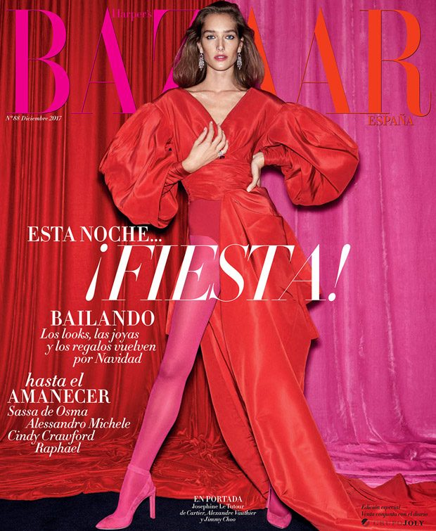 Josephine Le Tutour Stars in Bazaar Spain December 2017 Cover Story (26 pics)