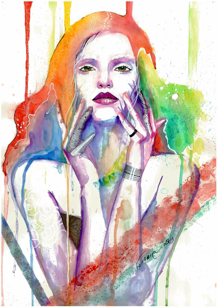 Colorful Portrait Paintings by Veronika