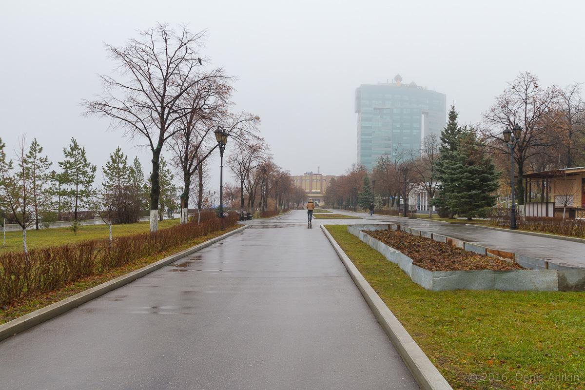 Самара набережная туман фото 2