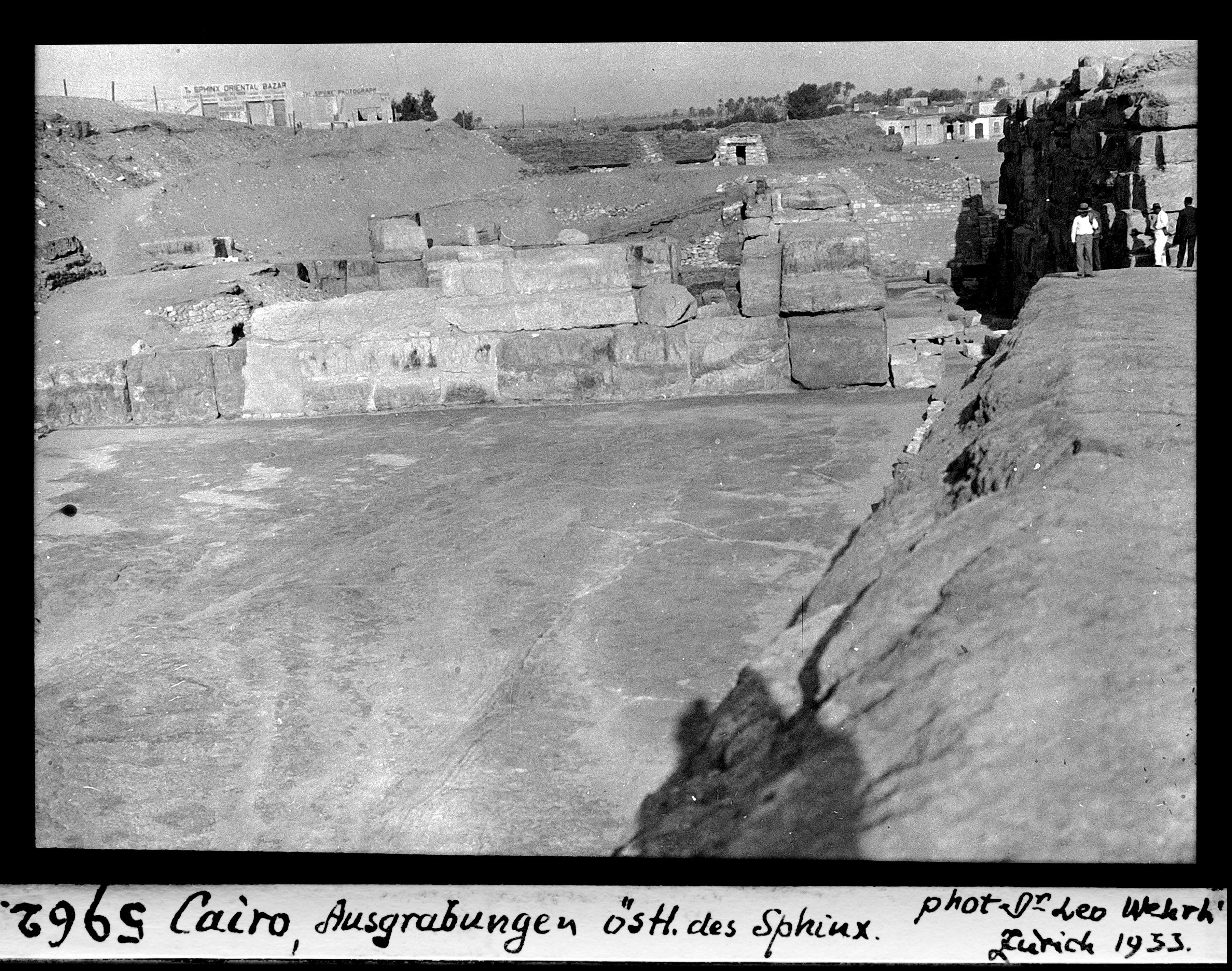 Гиза. Раскопки к востоку от Сфинкса