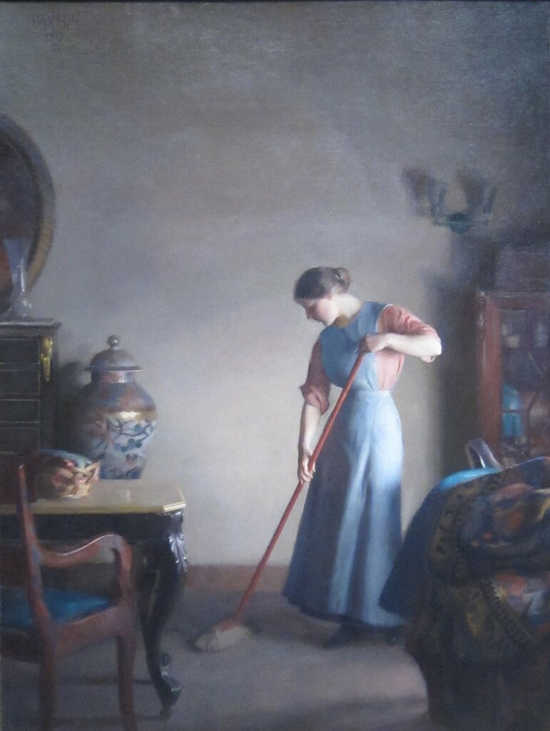 'Girl_Sweeping'_by_William_McGregor_Paxton,_1912.JPG