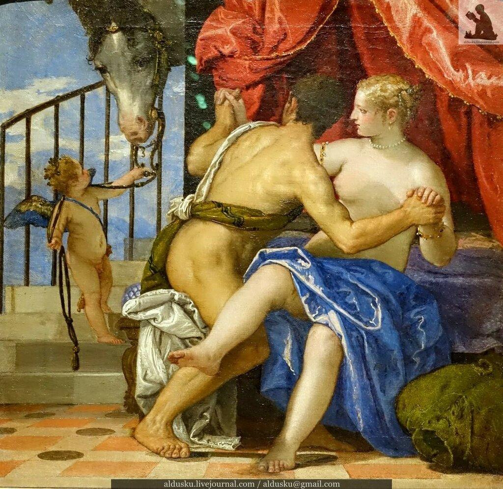 ПАОЛО КАЛЬЯРИ, прозванный ВЕРОНЕЗЕ (около 1528–1588). Венера и Марс с Амуром и лошадью. Около 1570 г. Холст, масло. Турин, Савойская галерея (Сабауда)