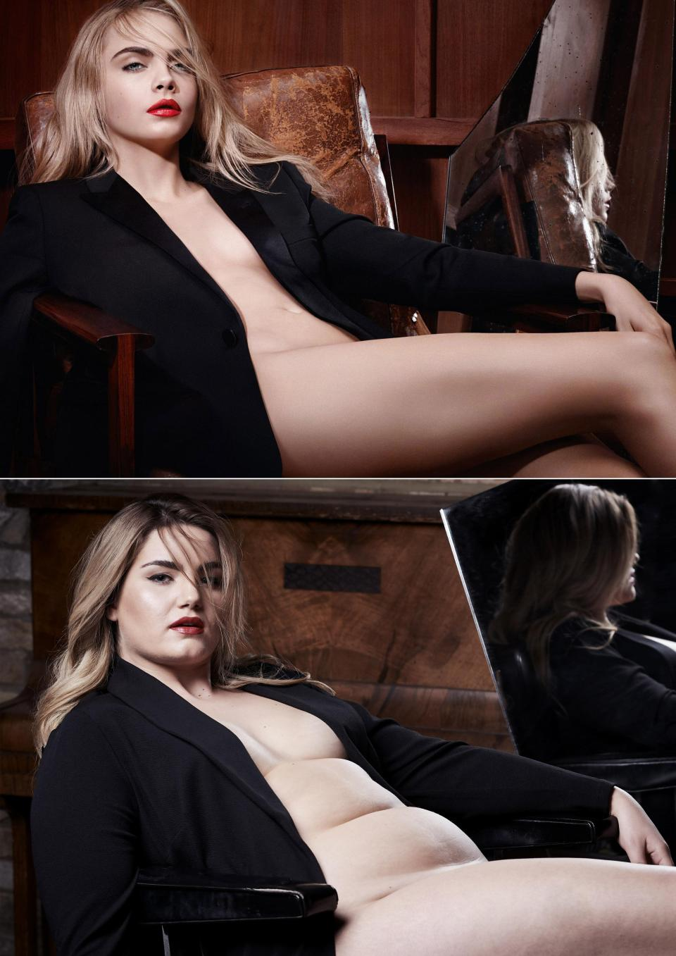 Пышная модель повторила известные обнаженные фото звезд Livia, Matthews, 28летняя, девушка, красиво, выглядеть, могут, формы, пышные, своего, стесняться, показать, хотела, Таким, образом, британская, других, Kardashian, звезд, таких