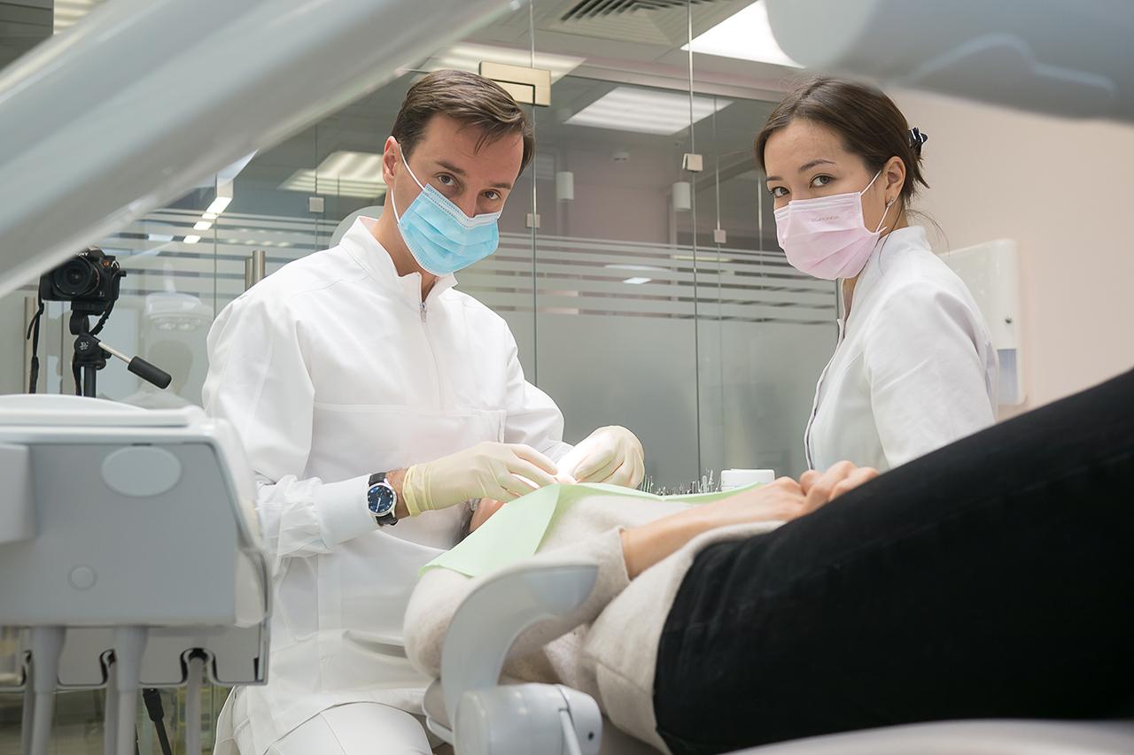 фотосъемка стоматологичекой поликлиники. портреты врачей. Медики