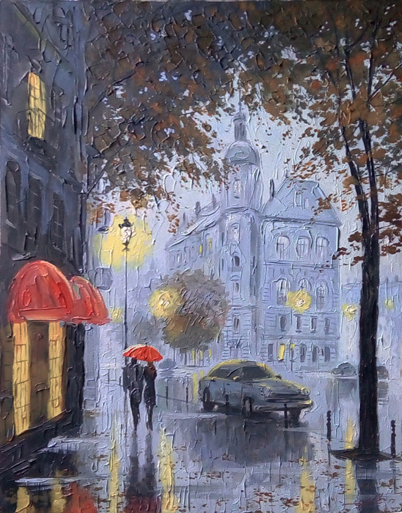 Александр Болотов-После дождя в старом городе..jpg