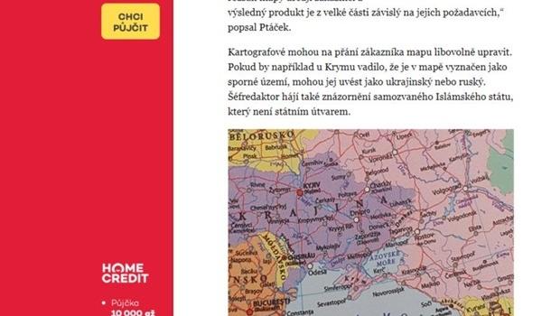 Украина требует уперевозчика Чехии исправить карту со«спорным» Крымом