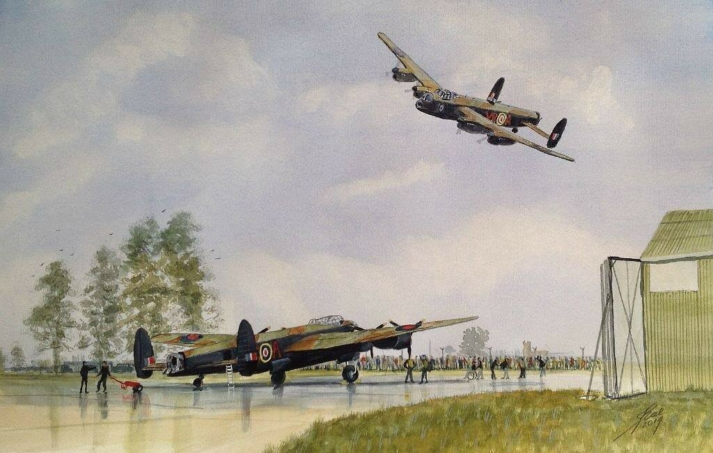 Lancasters painting finished.
