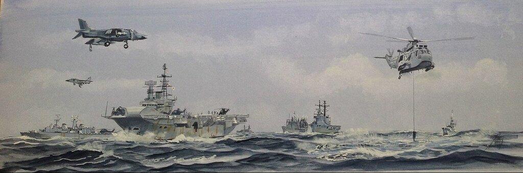 Part of the Carrier Battle Group Falklands 1982.