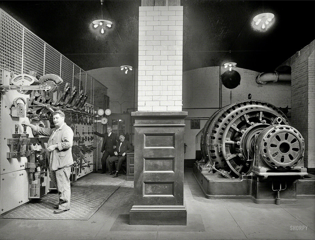 Washington, D.C., circa 1920. Congressional Library power plant.