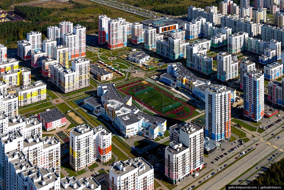 44. Жилые микрорайоны «Синие камни» и Комсомольский. «Камни» начали строить в 1940-е годы. Комсомоль