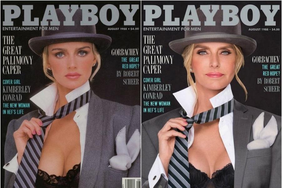 Playboy воссоздал свои знаковые обложки 30 лет спустя