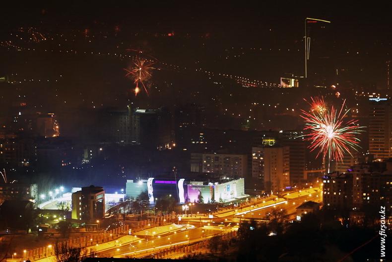 Новый год в Алматы с вершины Кок-Тюбе