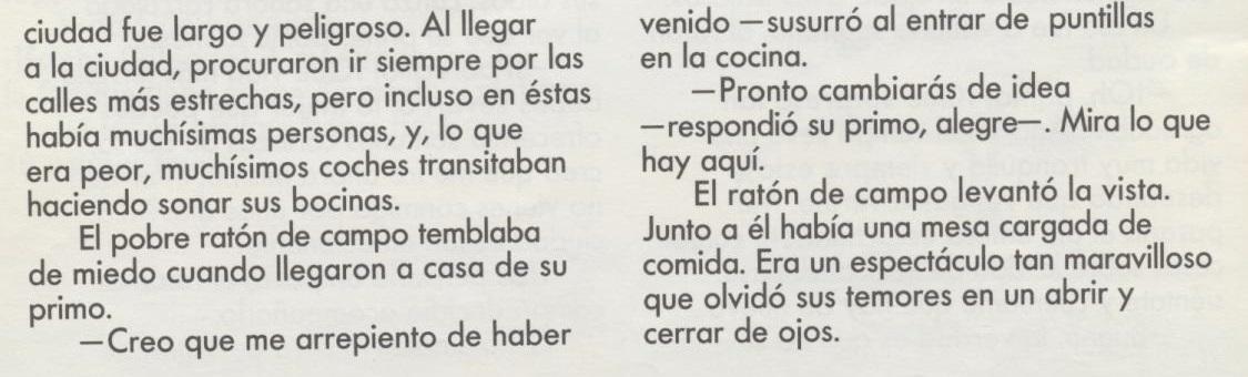 Мышь полевая и мышь городская - Raton de campo y raton de ciudad. Аудиосказка для детей на испанском языке с текстом