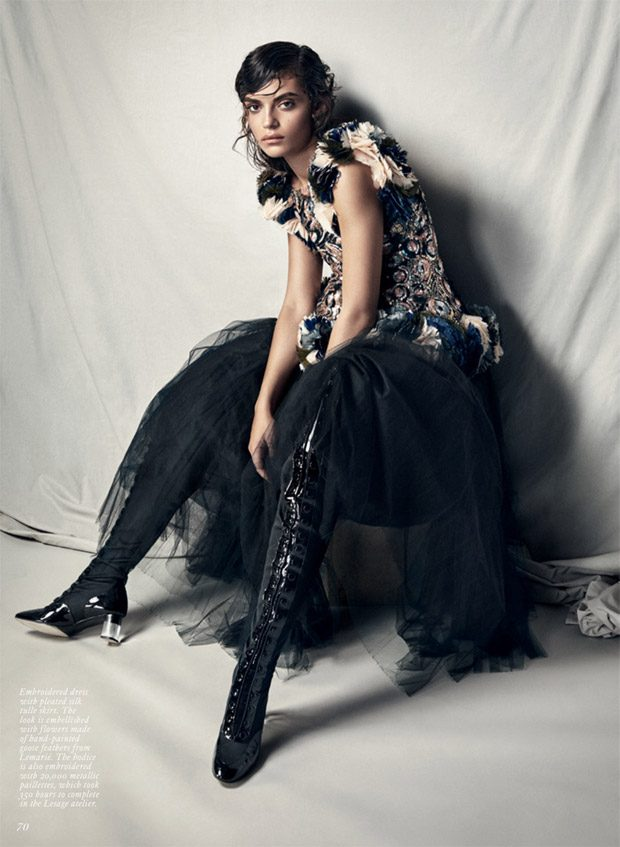 Rubina Dyan Models Chanel Haute Couture for Fashion Magazine