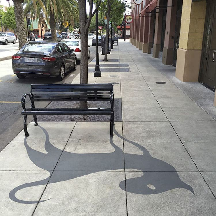 Playful Shadow Art by Damon Belanger