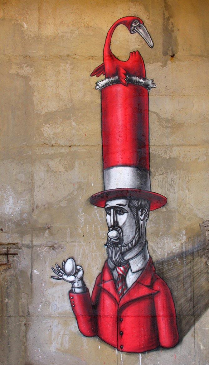Kislow - Ukranian Surreal Street Artist