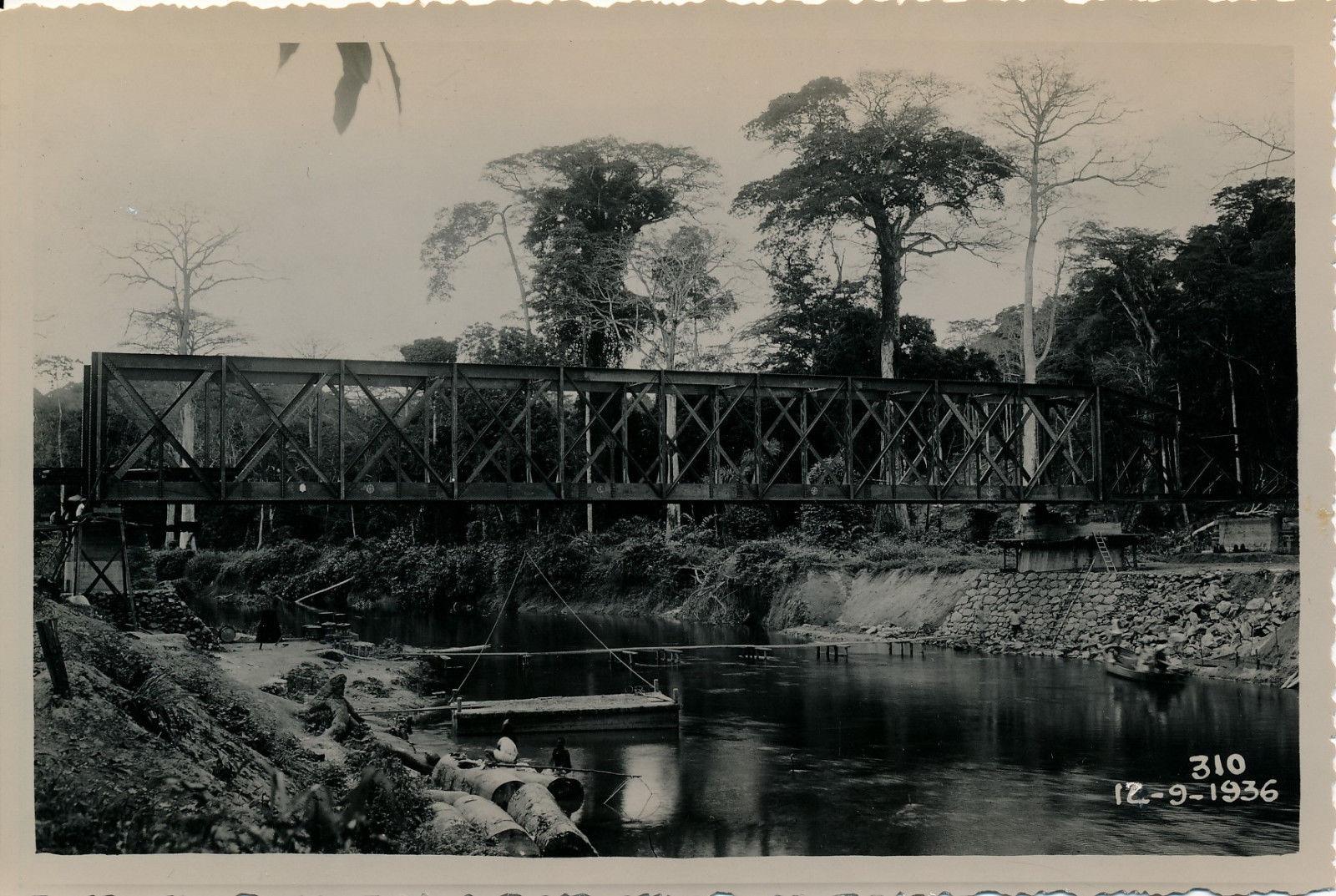 12.09.36. Строительство моста Ломе. 76 км.