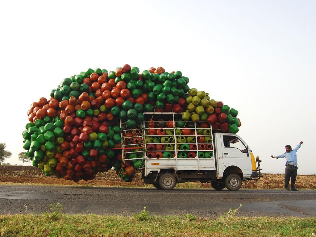 31. Настоящий индийский грузовик!