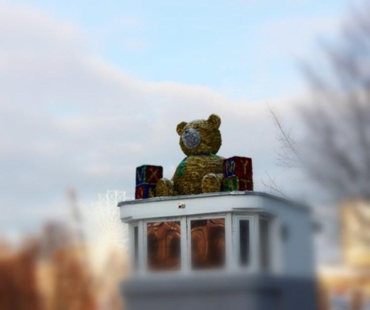 В Иваново на Новый Год тушили праздничного медведя