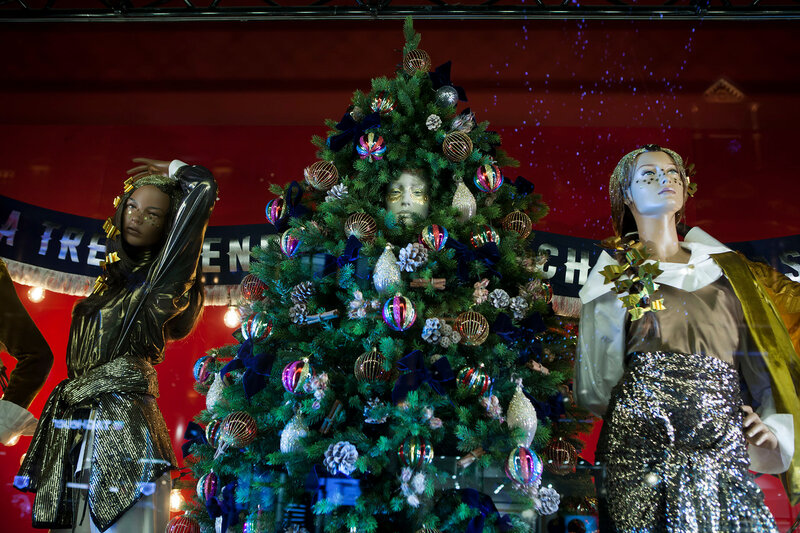 Selfridges, Oxford Street, London, decorated for Christmas and New 2018 Year