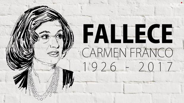 20171229-Muere Carmen Franco y Polo a los 91 anos