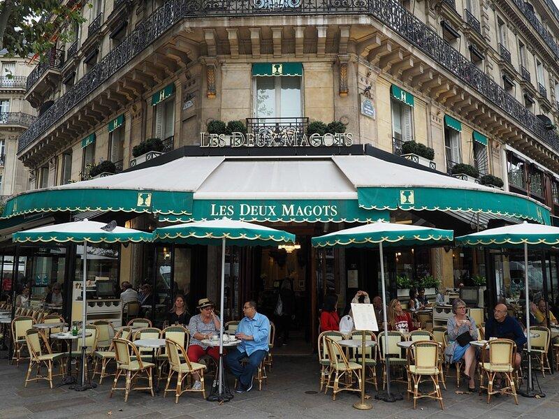 Париж (Paris). Cafe Les Deux Magot