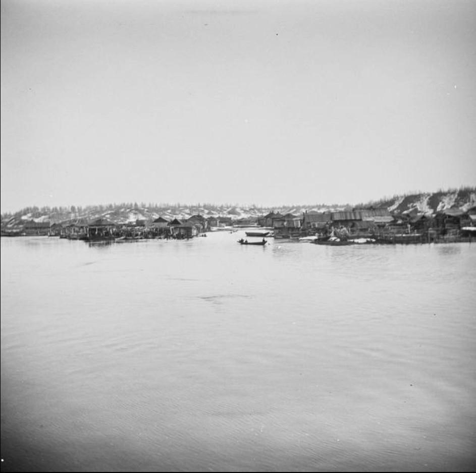 Деревня во время наводнения