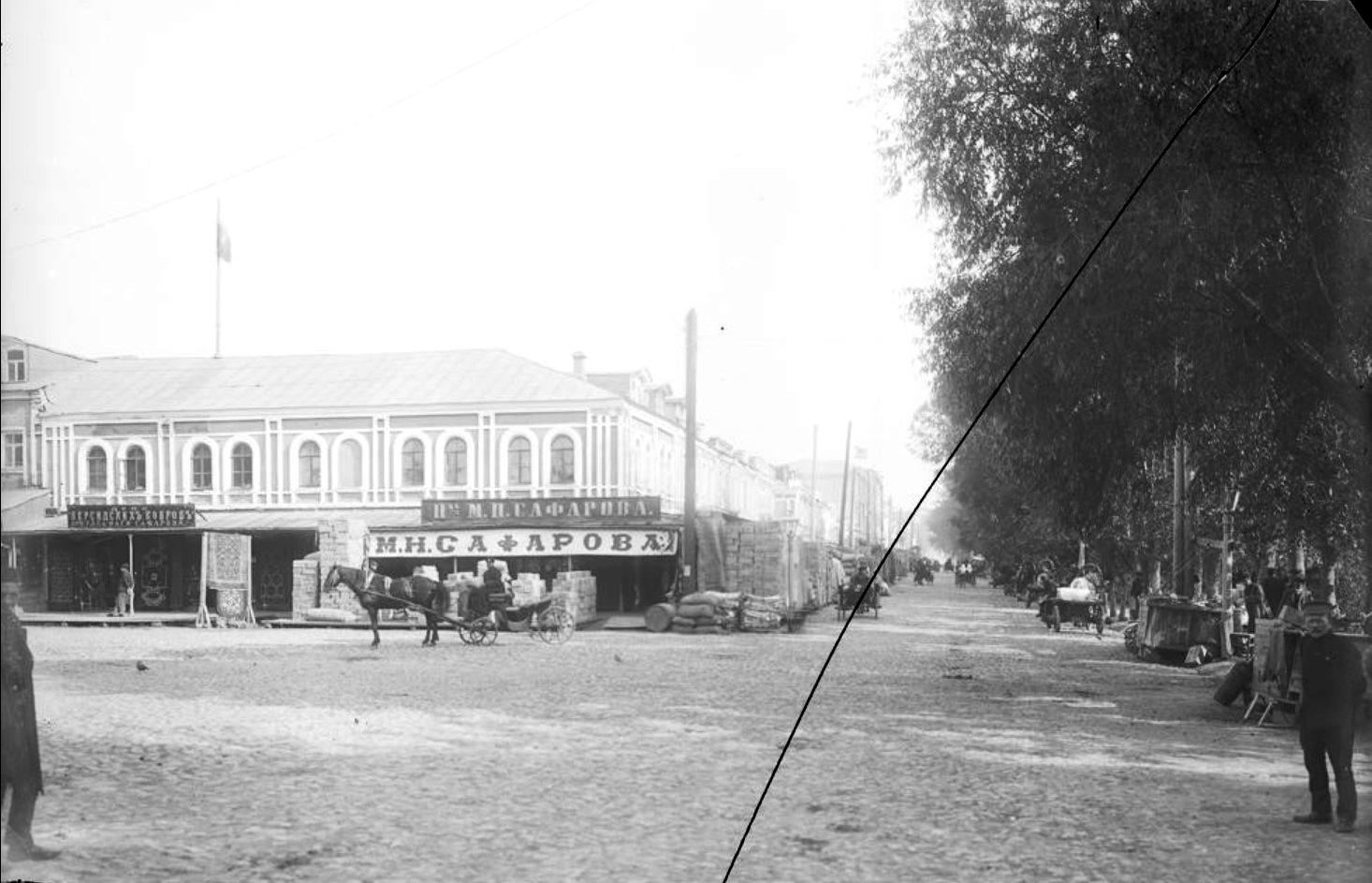 Ярмарочная сторона города. Вид на Бетанкуровскую набережную