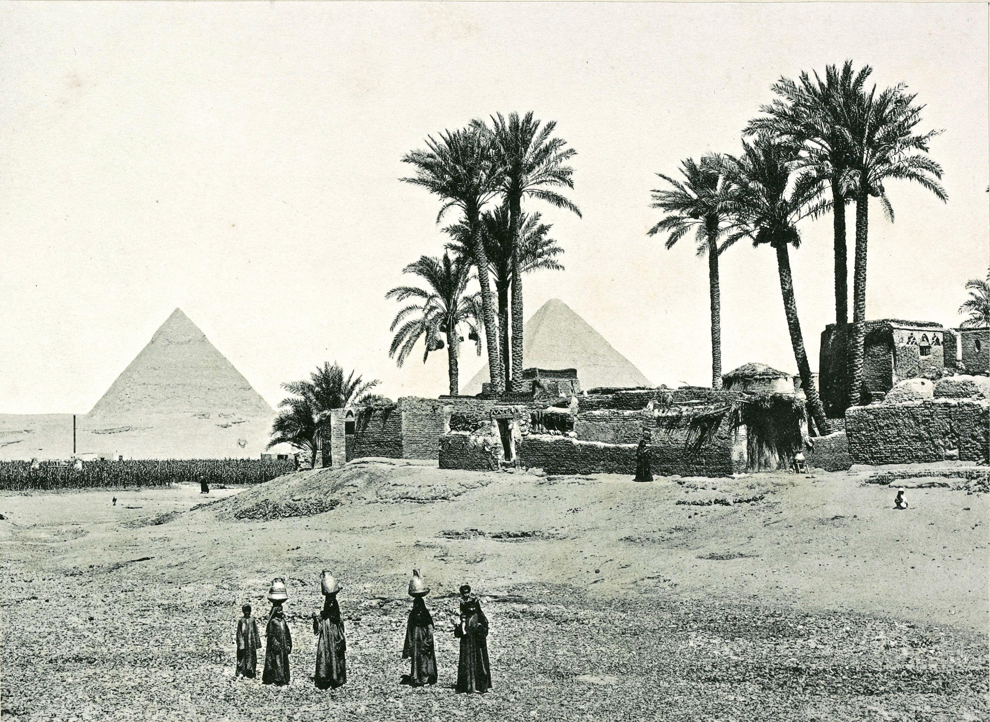 Гиза. Пирамиды и деревня