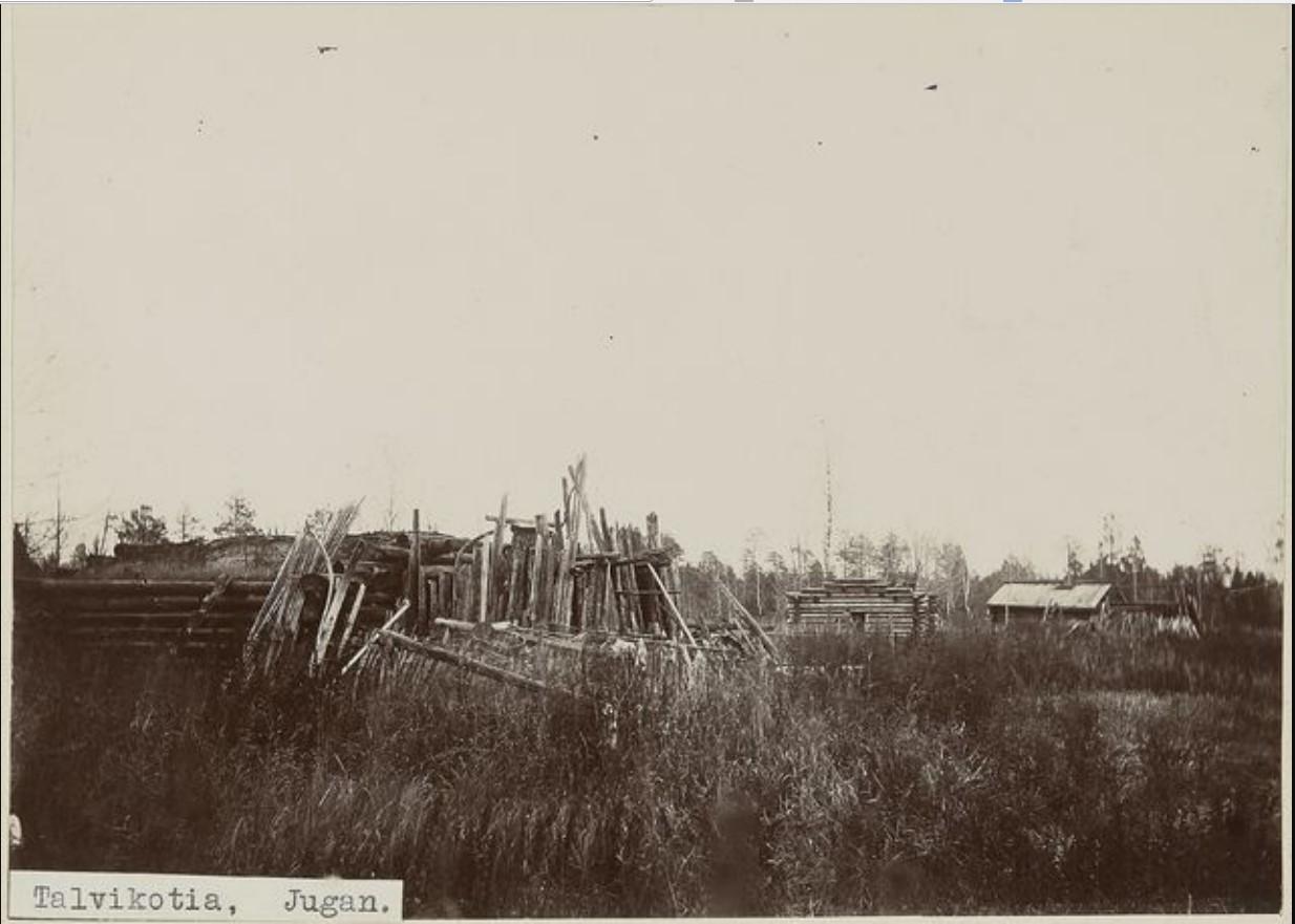 Зимний дом на реке Юган