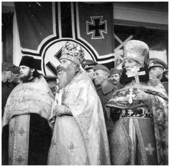 Гитлеровские фашисты передают Тихвинскую икону РПЦ.jpg