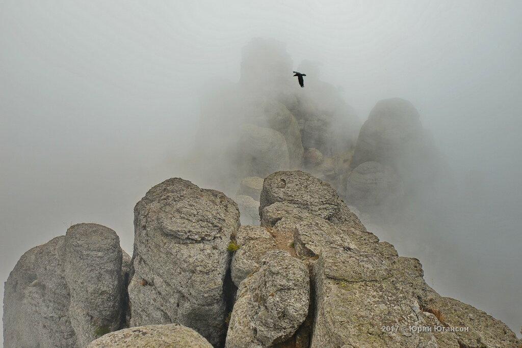 Туманное настоящие крымской горы