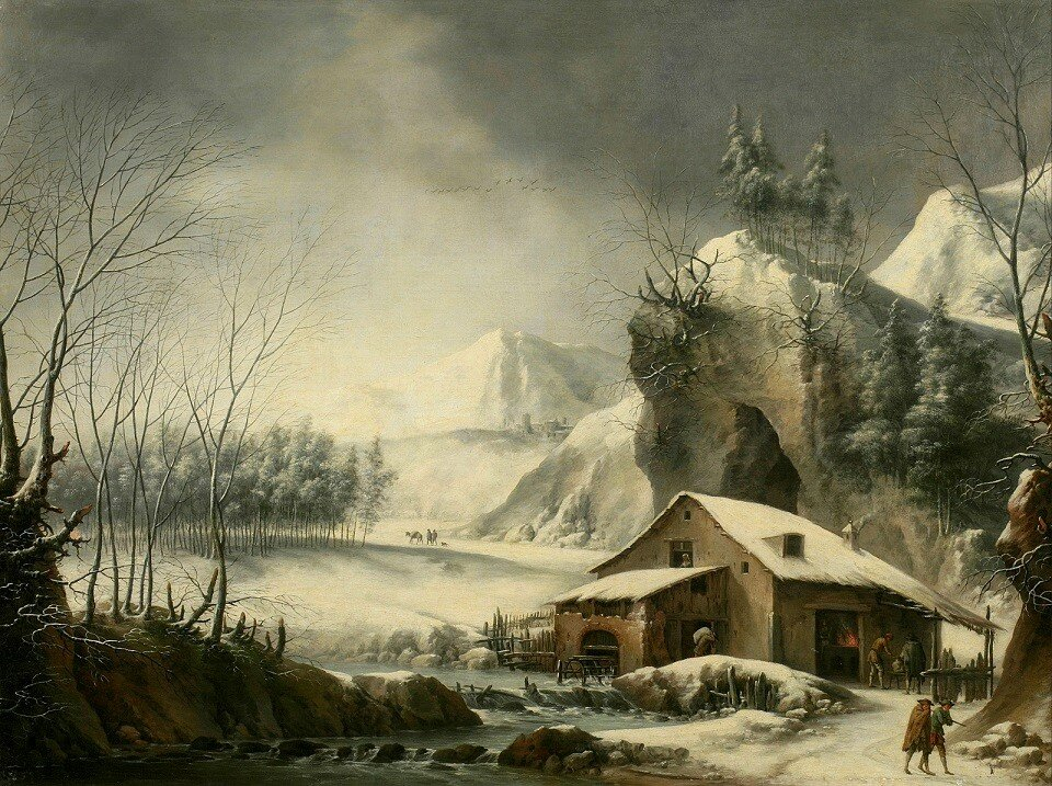Зимний речной пейзаж (A winter river landscape)_74.6 х 99.8_х.,м._Частное собрание_обработано.jpg