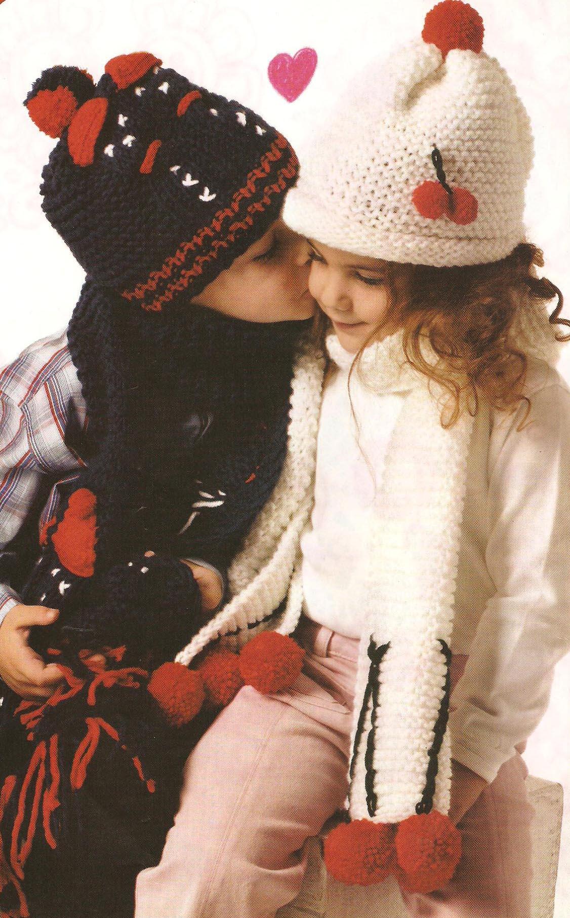 Красивые шарфы и шапки (1 фото)