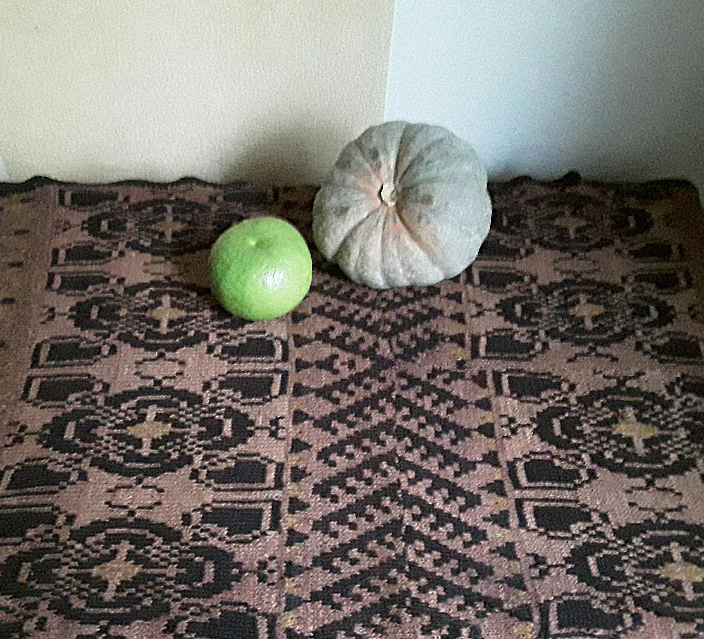 Тыква и свитки на новом коврике