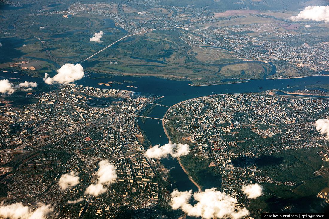 Нижний Новгород. Фотографии из окна самолета