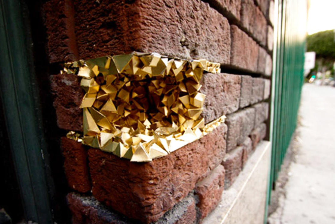 Urban Geode – This street artist fills the holes with colorful crystals (21 pics)