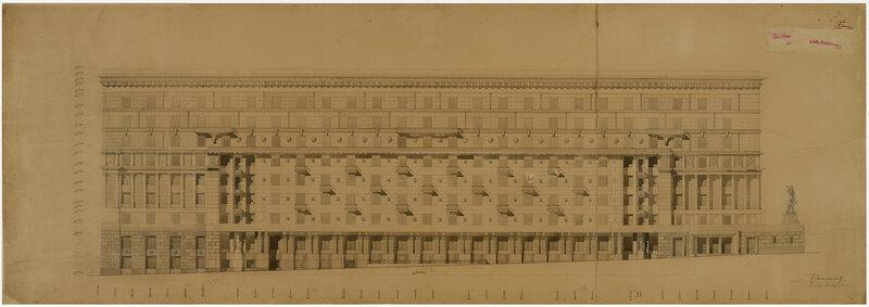 И.А.Голосов. 1938. Жилой дом военно-инженерной Академии на Яузском бульваре