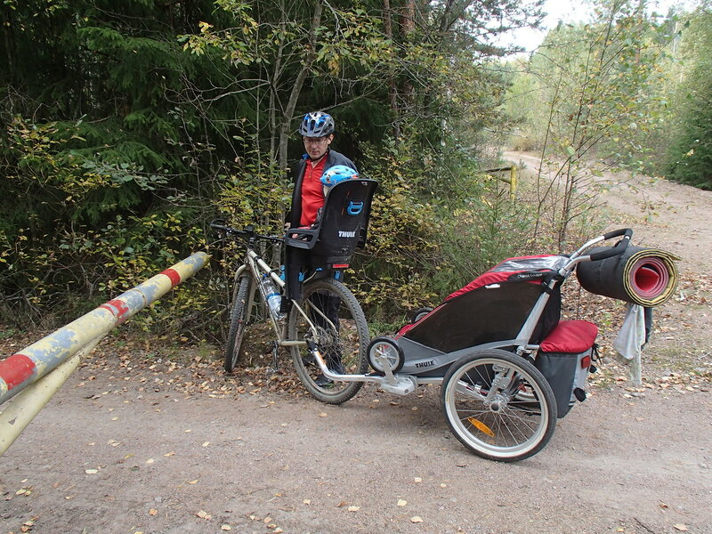 шлагбаум на лесной дороге возле Коувола, финляндия