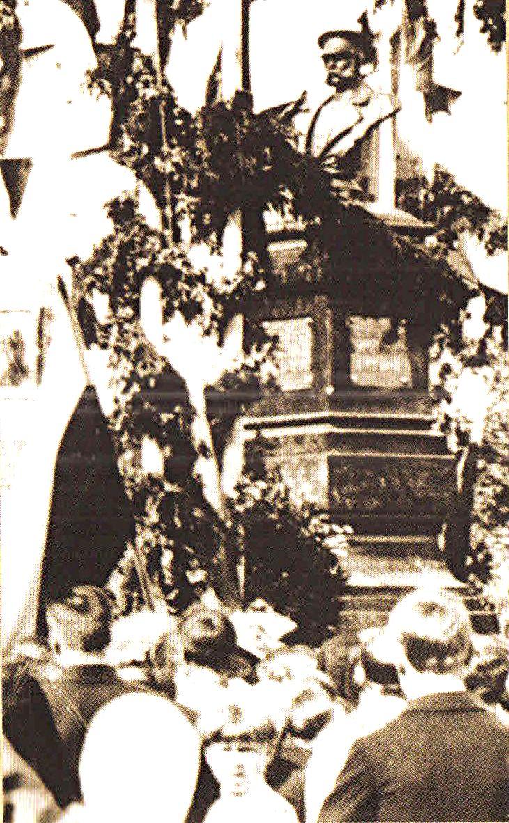1913. Открытие памятнику императору АлександруII в Бору 18 августа