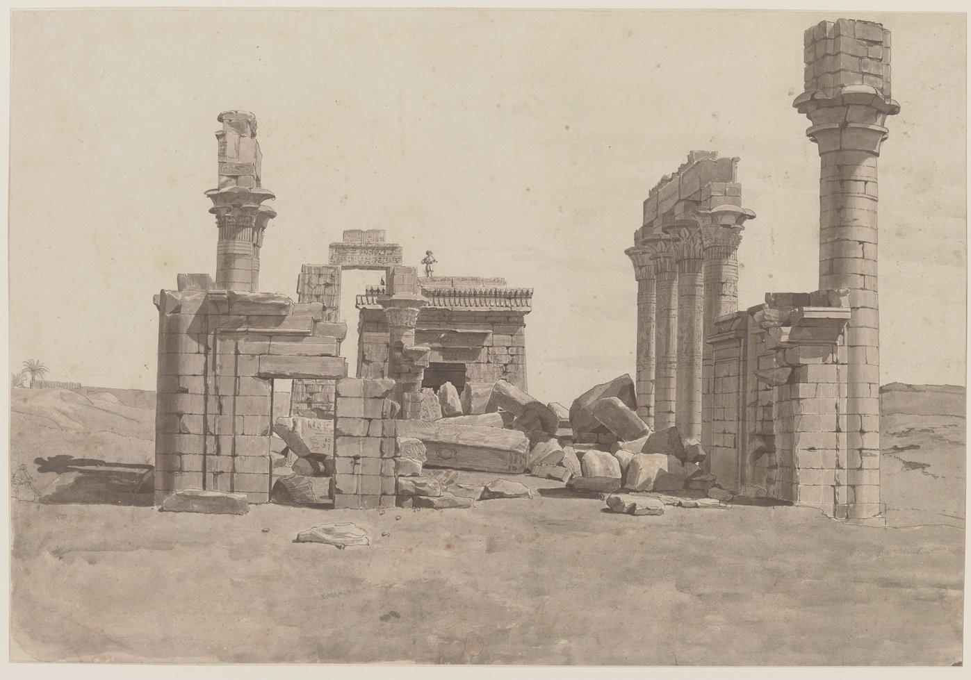 Гермонтис. Вид на храм с запада