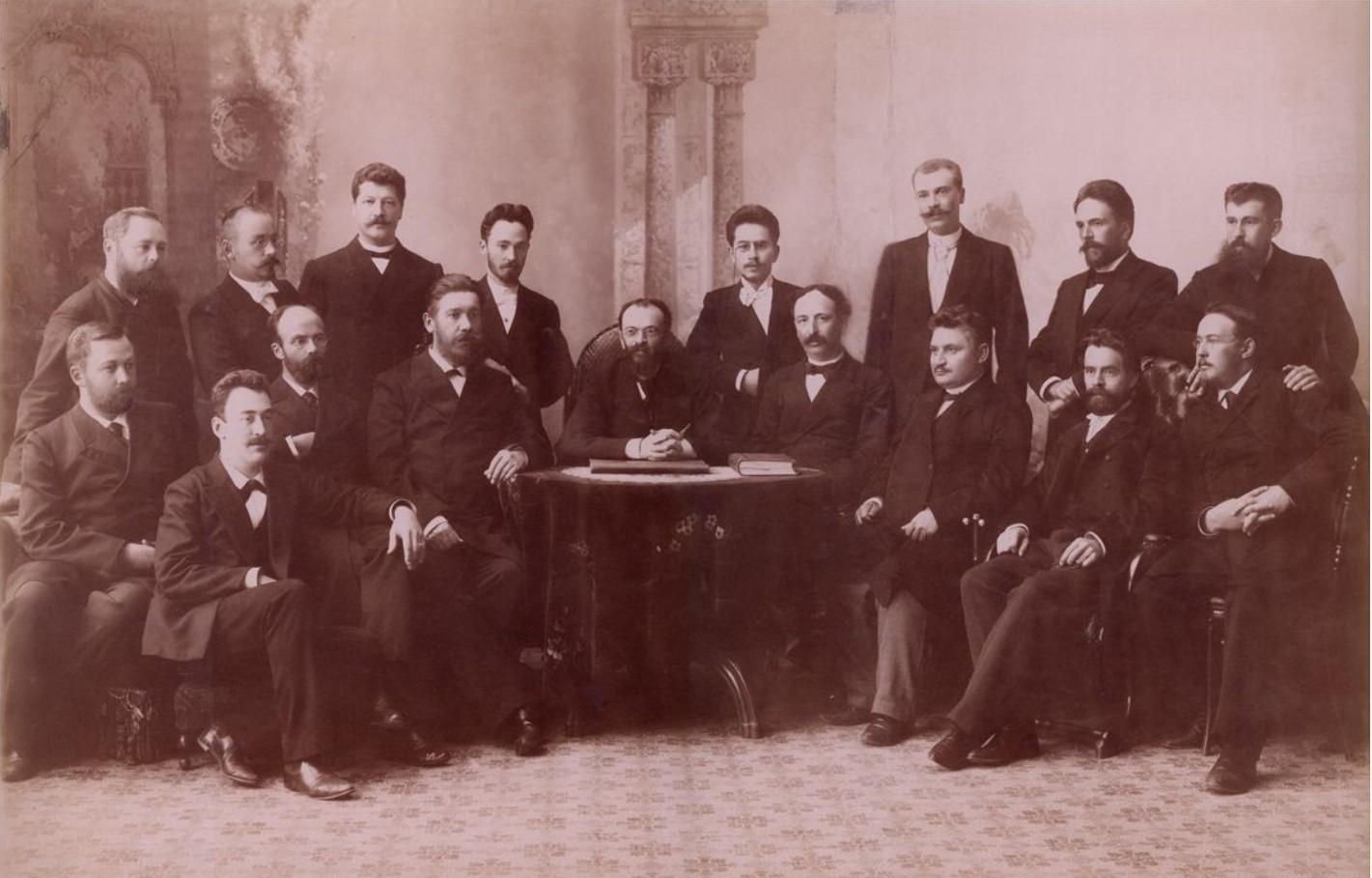 Группа служащих Казенной палаты. Управляющий палатой  - Нечаев и сотрудники