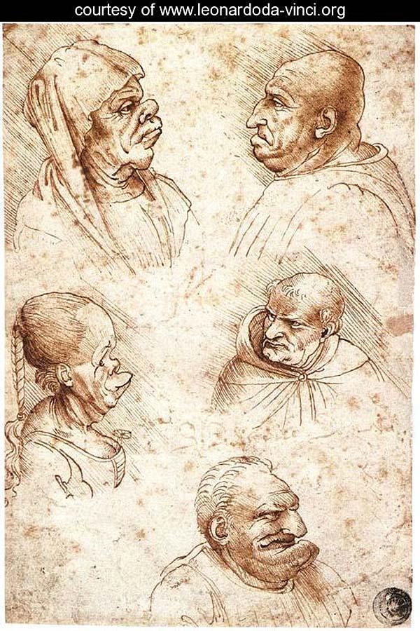 Пять смешных голов. Леонардо. да Винчи(900)