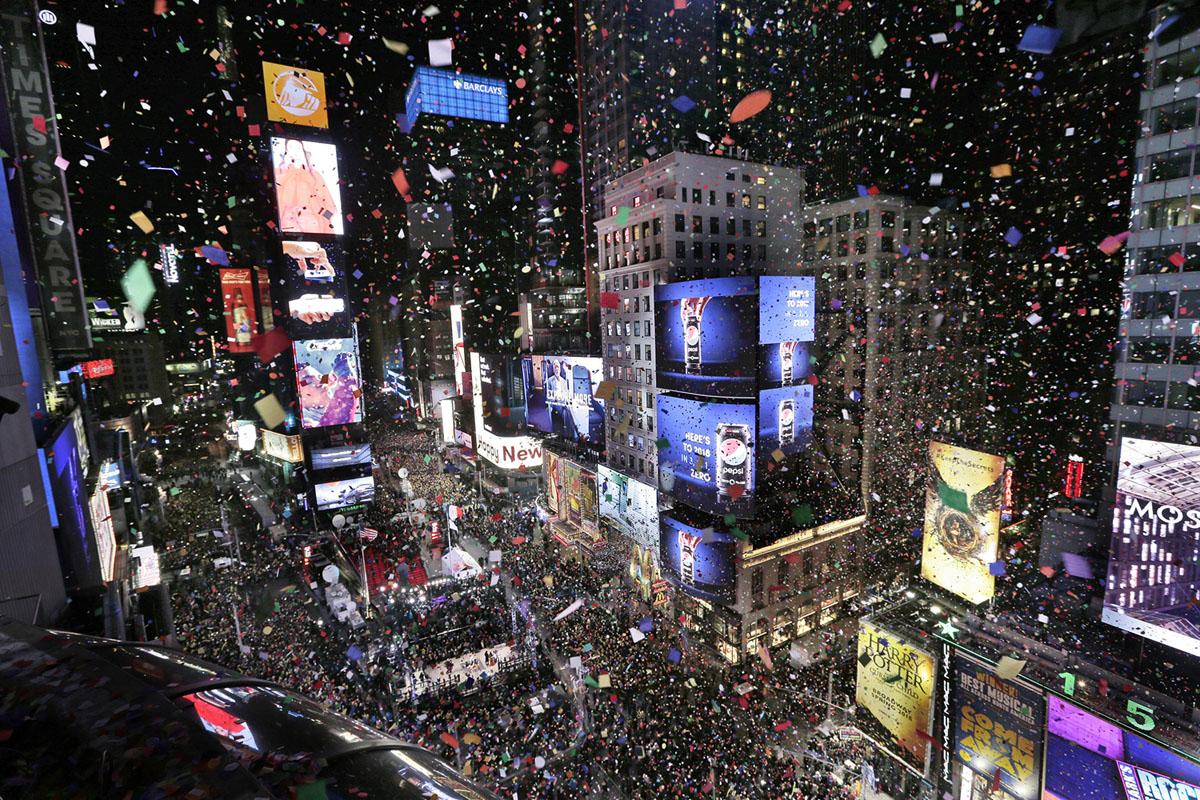 Встреча Нового Года на всей Земле