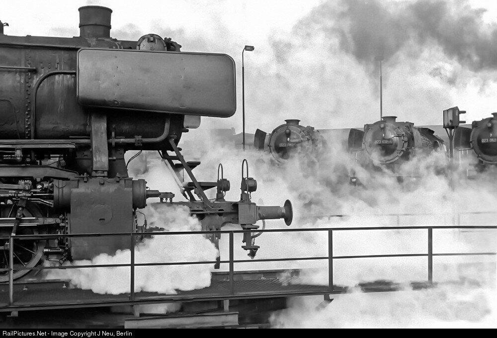 Deutsche Bundesbahn #50 1832, Steam 2-10-0, Dillingen, Germany, September 30, 1973.