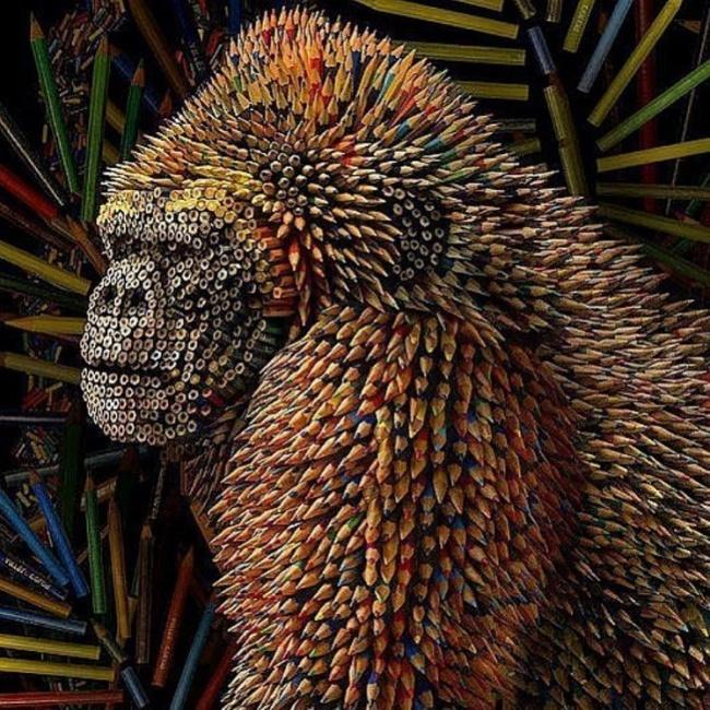 Миниатюрные скульптуры изгрифеля карандаша